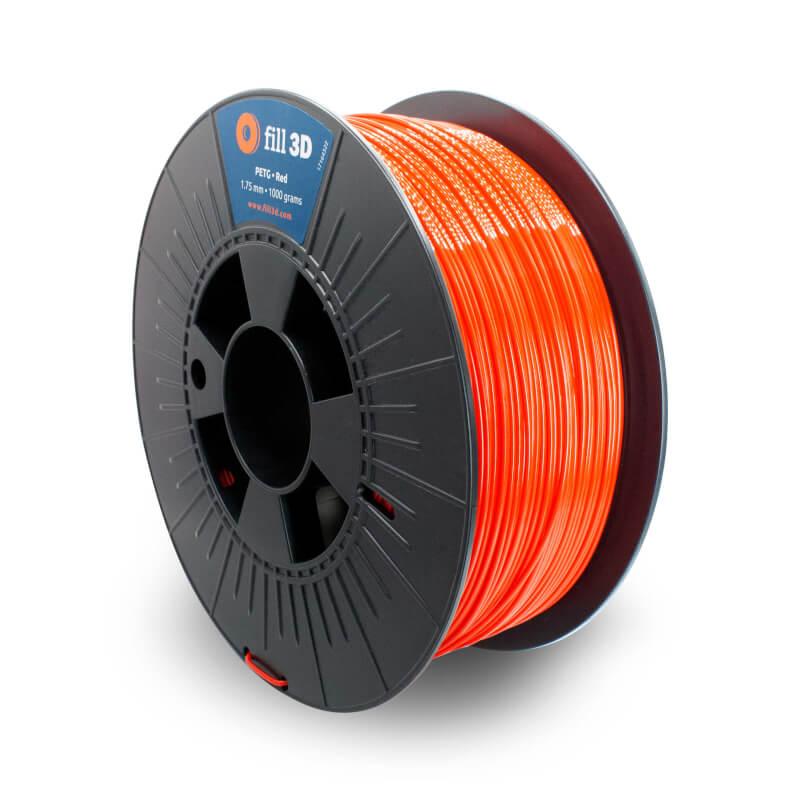 Fill 3D PETG Red (rood) 1 kg