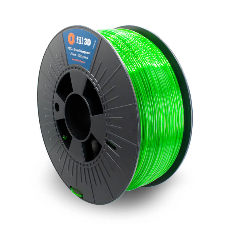 Fill 3D PETG Green Transparent (groen transparant) 1 kg