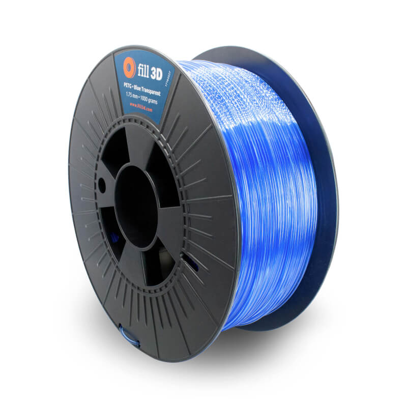 Fill 3D PETG Blue Transparent (blauw transparant) 1 kg