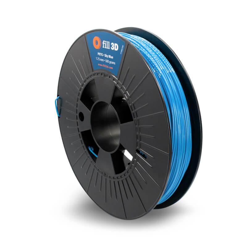 Fill 3D PETG Sky Blue (helder blauw) 0,5 kg