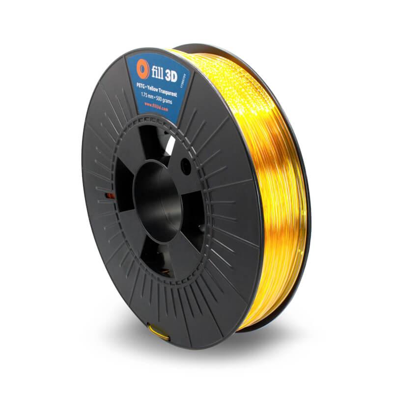 Fill 3D PETG Yellow Transparent (geel transparant) 0,5 kg