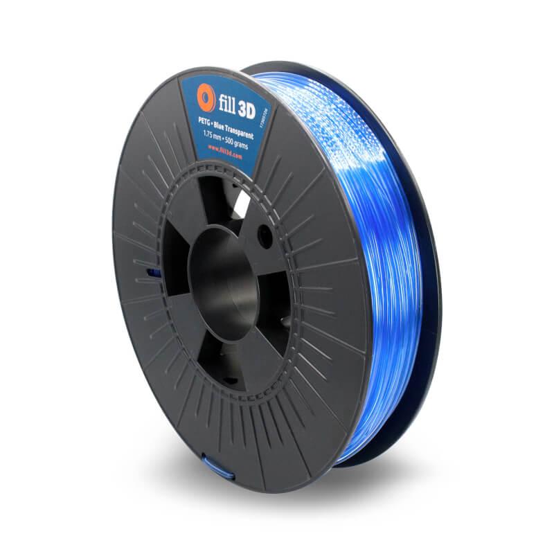 Fill 3D PETG Blue Transparent (blauw transparant) 0,5 kg